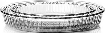 Набор форм для запекания Pasabahce Borcam Sets 2 шт 2 6 л /1 6 л форма для свч pasabahce borcam для кекса 59884 1 12 л