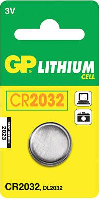 Батарейка GP Lithium CR2032 (1 шт.) cr2016 батарейка gp lithium 5 шт