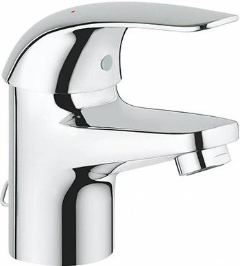 Фото - Смеситель для ванной комнаты Grohe Euroeco для раковины цепочка 32881000 смеситель встраиваемый для ванны grohe euroeco new встр механизм в комплекте 32747000