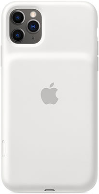Чехол-аккумулятор Apple для iPhone 11 Pro Max Smart Battery Case with Wireless Charging - White MWVQ2ZM/A чехол аккумулятор для iphone xs apple smart battery case pink sand клип клейс силикон беспроводная зарядка