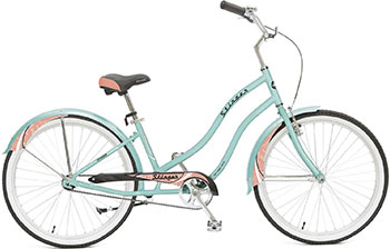 Велосипед Stinger 26'' Cruiser L 16 5'' зеленый 26AHC.CRUISERL.16GN8 велосипед electra cruiser betty 3i ladies' 2016