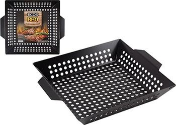 Решетка для гриля Ecos квадратная с антипригарным покрытием 3009D (35х30х6см) 999627