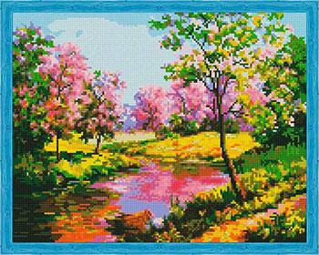 Фото - Алмазная мозаика Цветной ''Пробуждение природы'' (40х50) на подрамнике qa202234 алмазная мозаика цветной букет нежных цветов 40х50 на подрамнике lg104