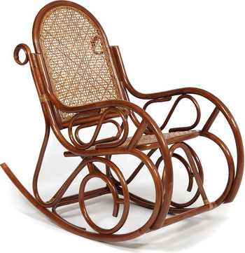 Кресло-качалка Tetchair MILANO (разборная) / без подушки ротанг top quality 58x136x103 см pecan matted black washed 129
