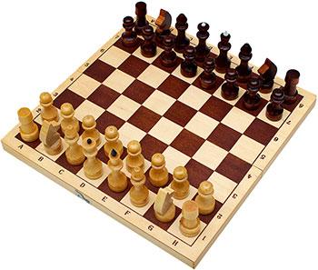 Шахматы Рыжий кот обиходные лакированные с доской 290х145 мм ИН-7520