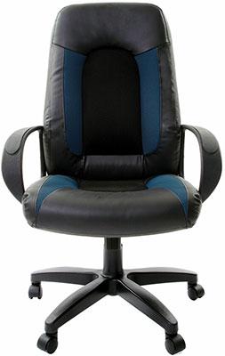 Кресло Brabix ''Strike EX-525'' экокожа черная/синяя ткань серая TW 531378