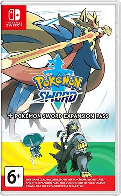 Игра для приставки Nintendo Switch: Pokemon Sword + Expansion Pass