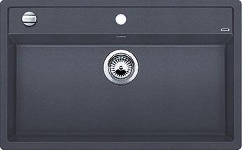 Кухонная мойка BLANCO DALAGO 8 SILGRANIT темная скала с клапаном-автоматом мойка blanco dalago 45 silgranit puradur 518846 тёмная скала размер шхд 46 5см х 51см