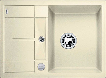Кухонная мойка BLANCO METRA 45 S COMPACT SILGRANIT жасмин с клапаном-автоматом мойка кухонная blanco metra 6 s compact алюметаллик с клапаном автоматом 513553