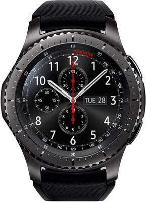 Часы Samsung Galaxy Gear S3 Frontier темно-серые (SM-R 760 NDAASER) смарт часы samsung galaxy gear s3 frontier sm r760 1 3 титан матовый черный [sm r760ndaaser]