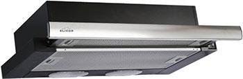 Вытяжка ELIKOR Интегра 50П-400-В2Л КВ II М-400-50-250 черный/нерж. вытяжка встраиваемая elikor интегра 50п 400 в2л черный управление кнопочное 1 мотор [кв ii м 400 50 250]