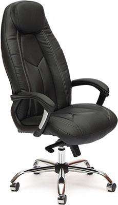 Кресло Tetchair BOSS (кож/зам черный черный перфорированный 36-6/36-6/06) цена и фото