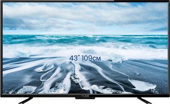 цена LED телевизор Yuno ULM-43 FTC 145 черный онлайн в 2017 году