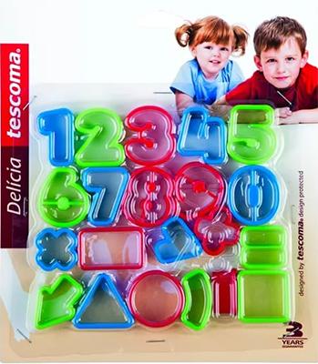 Фото - Формочки цифры Tescoma DELICIA KIDS 21шт 630926 традиционные формочки для печенья tescoma delicia 13шт 630900