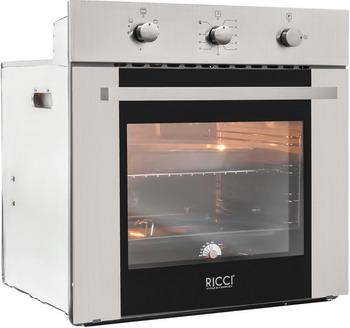 Встраиваемый газовый духовой шкаф Ricci RGO 640 IX встраиваемый газовый духовой шкаф bosch hgn 10 e 060