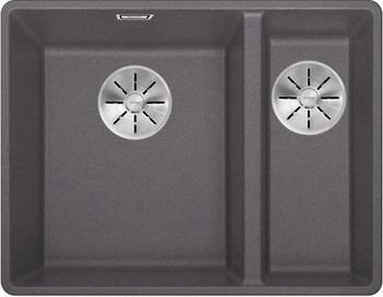 Кухонная мойка BLANCO SUBLINE 340/160-F темная скала с отв.арм. InFino 523569