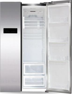 Холодильник Side by Side Ginzzu NFK-605 стальной холодильник side by side ginzzu nfk 530 черный