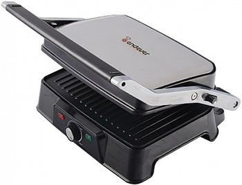 все цены на Электрогриль Endever Grillmaster 220 серебристый/черный онлайн