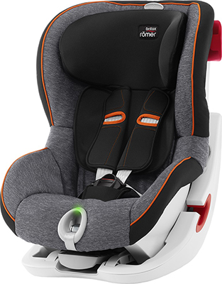 Автокресло Britax Roemer King II LS Black Marble Highline 2000022567 автокресло britax romer king ii ls black series football edition highline