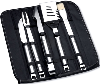 Набор для барбекю в сумке Berghoff Cubo 6 пр. 1108187 набор для барбекю berghoff cubo цвет металлик черный 9 предметов