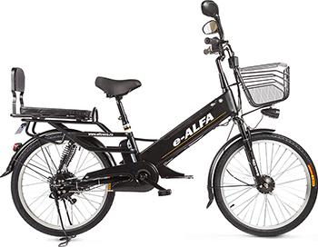 цена на Велогибрид Eltreco e-ALFA GL matt black 010824-0333