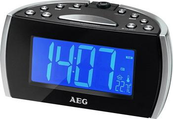 Будильник AEG MRC 4119 P schwarz радиочасы aeg mrc 4145 f white