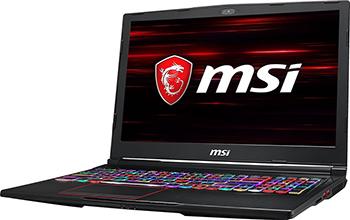 Ноутбук MSI GE 63 Raider RGB 8SF-233 RU i7-8750 H (9S7-16 P 722-233) Black