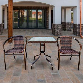 Набор мебели Афина Асоль-2B (иск. ротанг) TLH-037 BR2/060 SR-60х60 Brown 2Pcs afina набор мебели асоль 2в иск ротанг