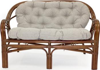 Диван RattanDesign ROMA МИ с подушкой. JC-1732 цвет Коньяк