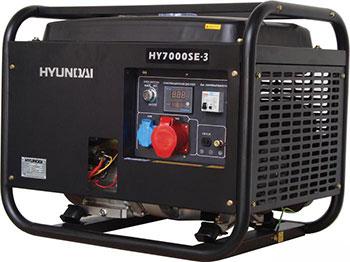 Электрический генератор и электростанция Hyundai HY 7000SE-3 hyundai matrix расход топлива