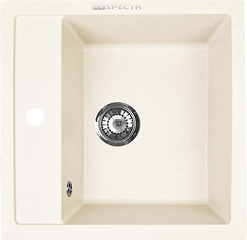 Кухонная мойка Respecta Cubo RC-51 сливочная ваниль RC51.108 цена