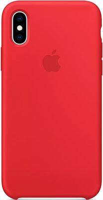 Чехол (клип-кейс) Apple Silicone Case для iPhone XS цвет (PRODUCT)RED красный MRWC2ZM/A чехлы для телефонов apple чехол клип кейс apple для iphone 7 mq0l2zm a серый