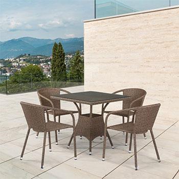 Комплект мебели 4 и 1 Афина T197BT/Y137C-W56 4PCS Light Brown 4Pcs
