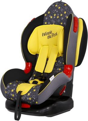 Автокресло Siger серия Disney Кокон ISOFIX гр. I/II Винни Пух кружки желтый KRES2665