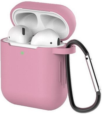 Фото - Чехол для наушников Eva для Apple AirPods 1/2 с карабином - Темно-Розовый (CBAP40DP) браслет розовый кварц 17 см биж сплав