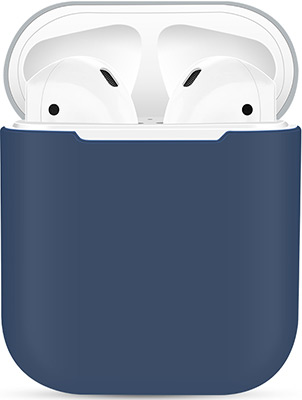 Чехол силиконовый Eva для наушников Apple AirPods 1/2 - Синий/Серый (CBAP03BLG) галина тер микаэлян синий олень книга 2 face to face