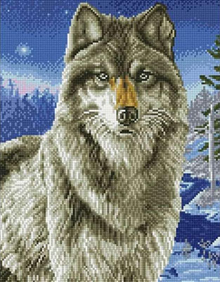 Фото - Алмазная мозаика Цветной ''Хищник'' (40х50) на подрамнике lg021 алмазная мозаика цветной букет нежных цветов 40х50 на подрамнике lg104