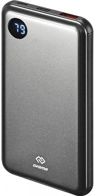 Внешний аккумулятор Digma Power Delivery DG-10000-SML-BL Li-Pol 10000mAh 3A темно-серый 2xUSB