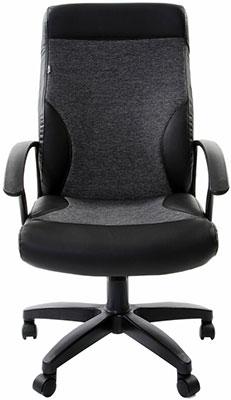 Кресло Brabix ''Trust EX-535'' экокожа черная ткань серая 531383