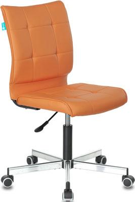 Фото - Кресло Бюрократ CH-330M оранжевый Orion-20 искусственная кожа крестовина металл хром кресло бюрократ ch 605 черное искусственная кожа крестовина металл