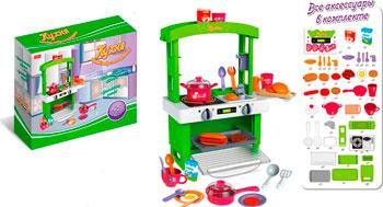 Набор игровой Zhorya с аксессуарами Кухня 45 элементов зеленая