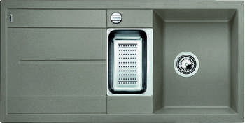 Кухонная мойка Blanco METRA 6S SILGRANIT серый беж с клапаном-автоматом blanco sona 45s silgranit серый беж