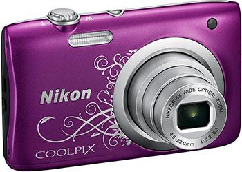 лучшая цена Цифровой фотоаппарат Nikon COOLPIX A 100 Purple Lineart