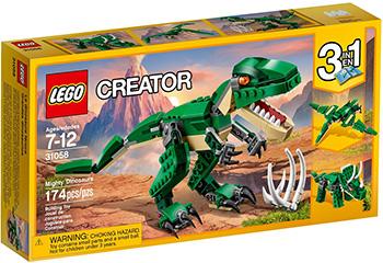 Конструктор Lego CREATOR Грозный динозавр 31058 конструктор creator lego lego mp002xb0085u