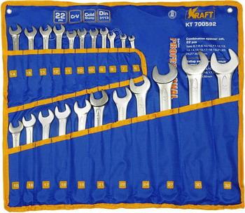 Набор комбинированных ключей Kraft KT 700592 набор комбинированных ключей kraft master с держателем 9 предметов
