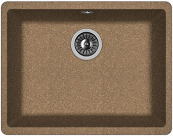 цены Кухонная мойка Florentina Вега 500 540х420х217 коричневый FG подстольная