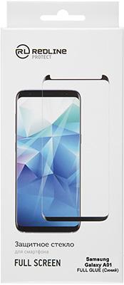 Защитный экран Red Line Samsung Galaxy A01 Full screen tempered glass FULL GLUE синий