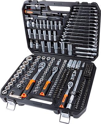Фото - Набор профессионального инструмента AV Steel AV-011219 219 предметов 1/4'' 3/8'' 1/2'' набор проходных головок av steel av 011029 1 4 29 предметов