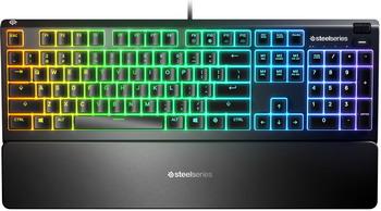 Водонепроницаемая игровая клавиатура SteelSeries Apex 3 черный (SS64805)