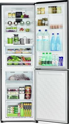 Двухкамерный холодильник Hitachi R-BG 410 PU6X GBK черное стекло